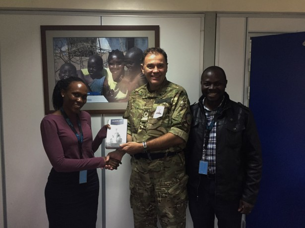 20180710-CCTF150 presents a gift to Maggie Muthama and Julius Otim, during a visit to the UN Women Office in Nairobi edit
