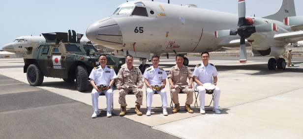 CCTF151 visits the Japanese P3 detachment with the Commander, Colonel Sekiya and Cdr Anno