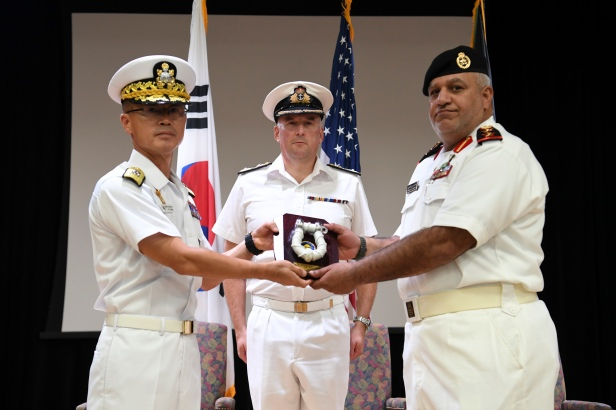 20191020_Rear Admiral Yu, ROKN, hands over command to Captain Khaled Hasan Al Kandari, KNF.
